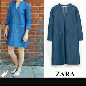 Zara Basic Z1975 Denim Couture Dress
